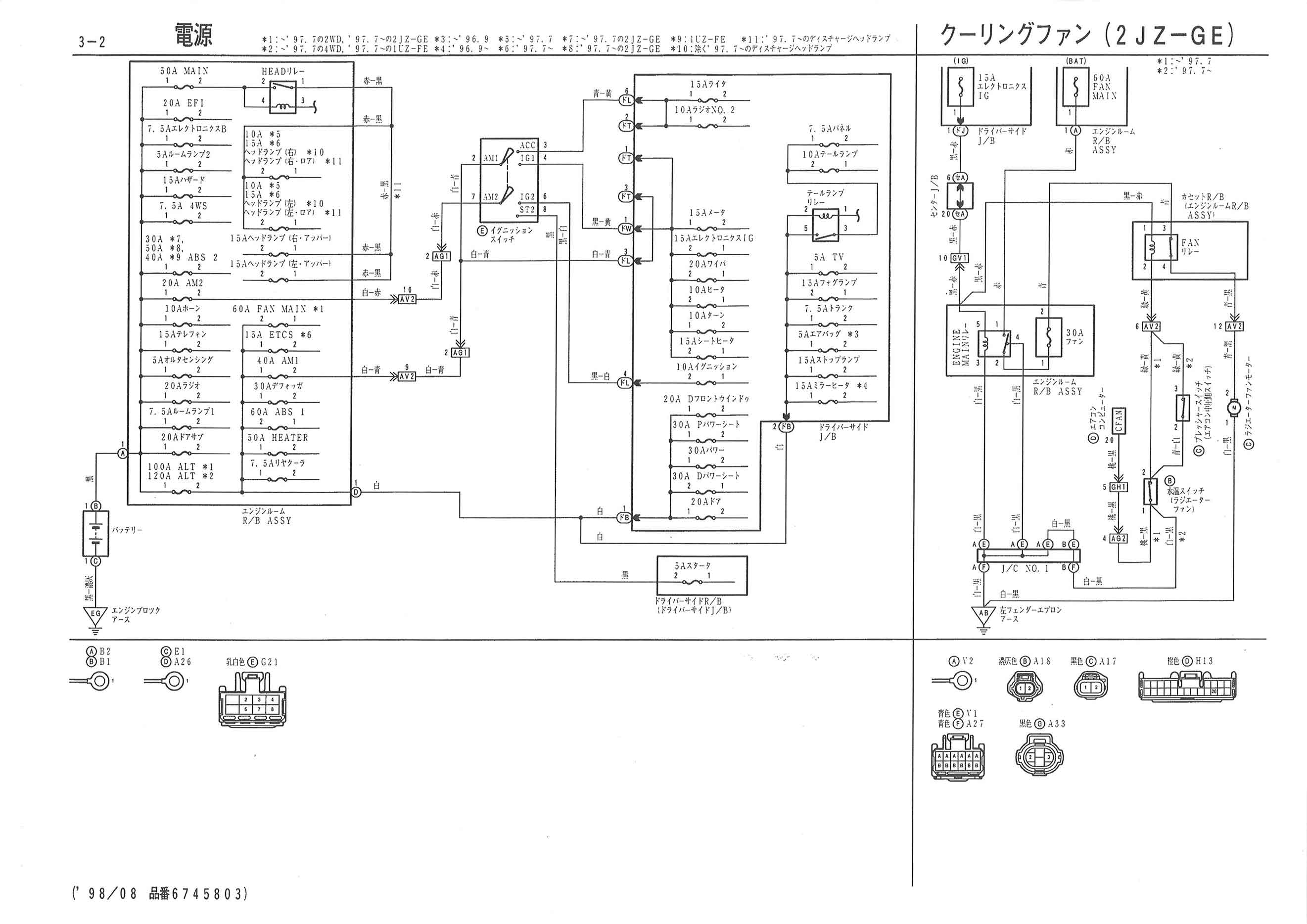 1992 Lexus Sc400 Wiring Diagram Daily Update 98 Es 300 Fuse Panel Box Auto 92