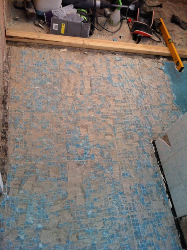 Level A Bathroom Floor : How to level this bathroom floor